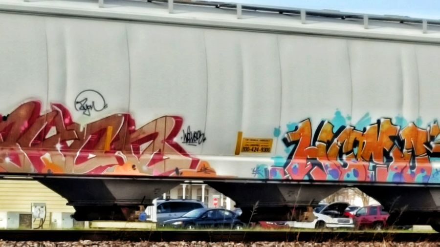 Rail car grafitti Day No People Outdoors South Louisiana Railcar Painted Low Angle View