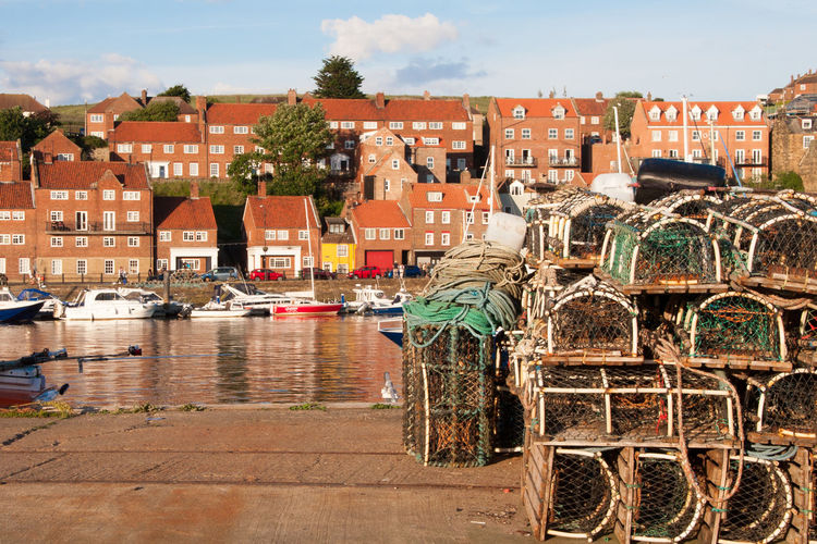 Lobster pots Architecture Building Coast Coastal Coastal View Day Fishing Lobster Pots No People Outdoors Seaside View Water Whitby Whitby Harbour Whitby View Yorkshire