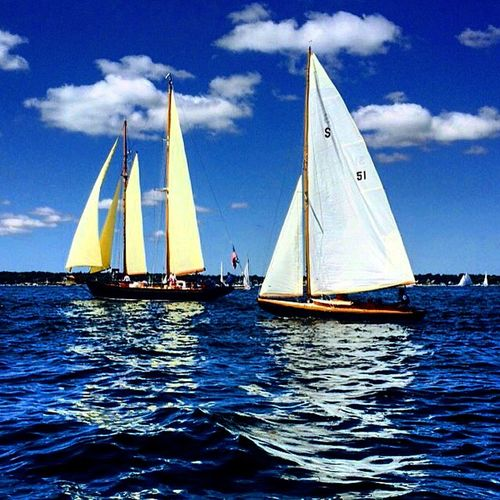 Sailing in Nantucket Environmental Conservation International Landmark Journey Nantucket Sail Boats Sailing Sky And Clouds Water Water Reflections