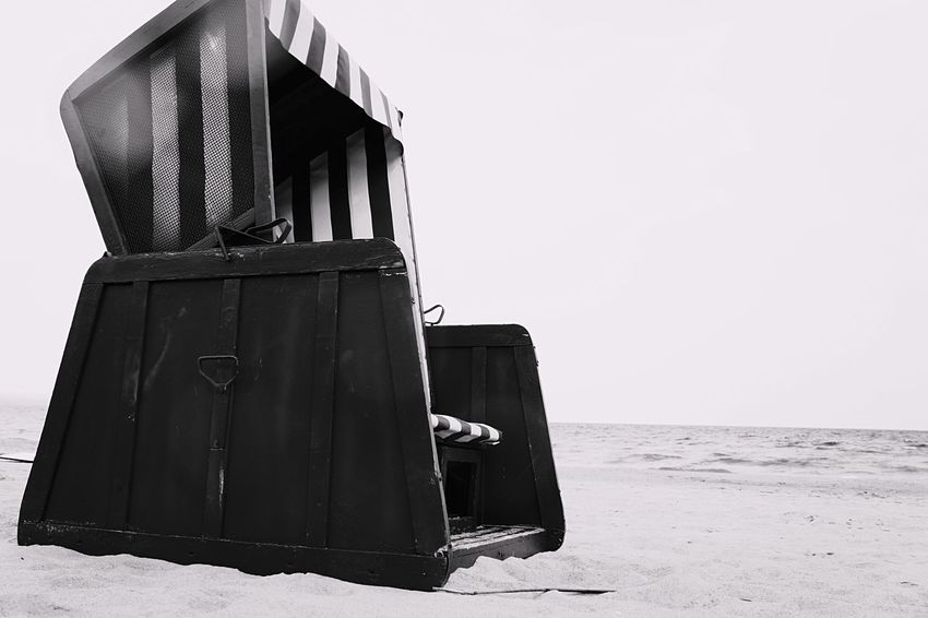 Beach Chair Outdoors Beach Sand Travel No People Blackandwhite Day Sea Nex5 Chair Good Times Be. Ready. Black And White Friday