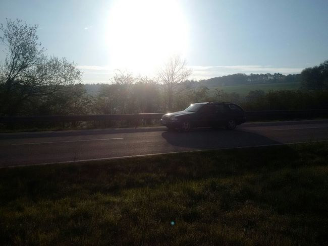Original Photo einer Riesensonne Gegenlicht Alltag Z30