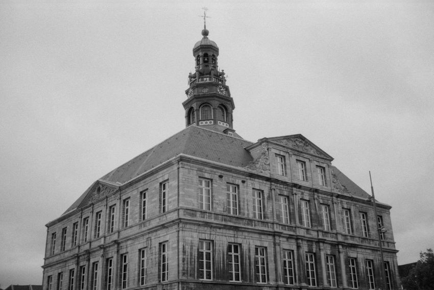 Historical architecture 35mm 35mm Film Analog Black & White Blackandwhite Bricks Brickwork  Building City Clock Film Fomapan200 Historical History ID-11 Masonry Old Stone Tower Urban Windows