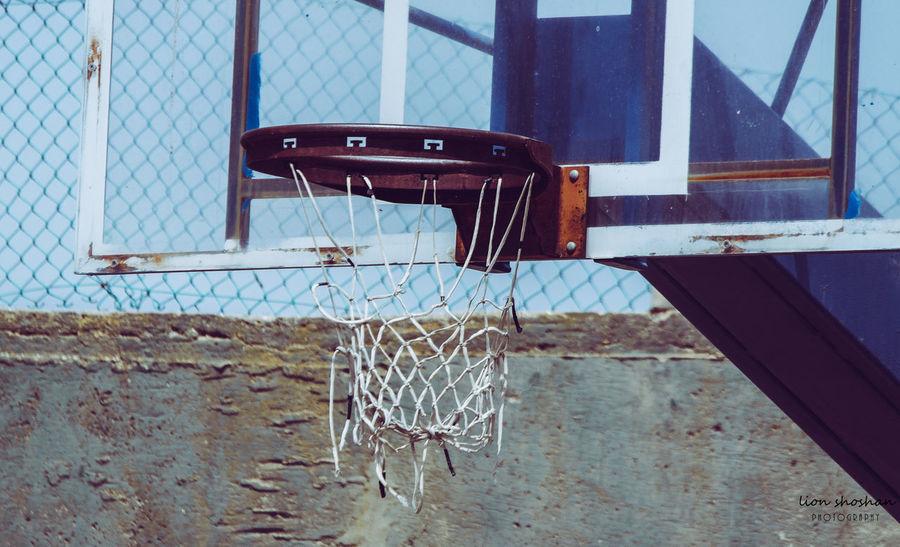 EyeEm Selects Hello World EyeEm Best Shots Urban Urban Lifestyle City Summer Flying Basketball - Sport Court Basketball Hoop Sport Net - Sports Equipment Basketball Barbed Wire Fence Outdoor Play Equipment Beach Volleyball Goal Post