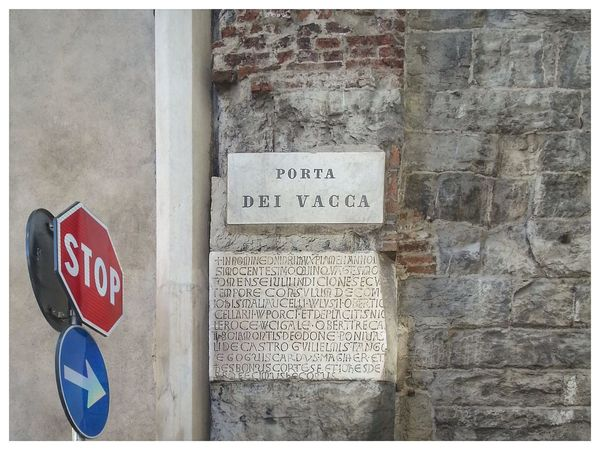 Segni. Signs. Porta Dei Vacca Scritta Marmo Stones City Wall Hystorical Gate Signs Outdoors Architecture Modern & Antique
