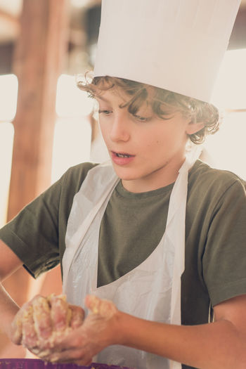Portrait Of Boy Baking