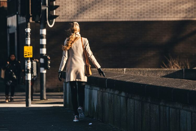 Don't look back and walk away EyeEm Best Shots - The Streets Streetphotography Girl Portrait Of A Woman Model Blonde Girl Blonde Hair Getting Inspired Walking Around 70-200mm