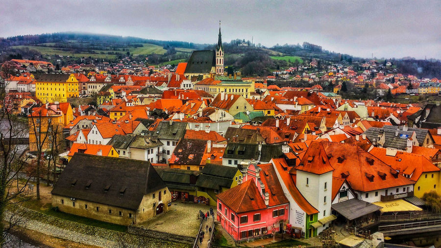 Český Krumlov EyeIMNewHere EyeEmNewHere EyeEm Best Shots EyeEm Selects EyeEm Gallery Eye4photography  Český Krumlov CeskyKrumlov Czech Republic Czech Cityscape City Sky Architecture Building Exterior Built Structure Housing Settlement Town TOWNSCAPE Tiled Roof  Townhouse Roof Bell Tower Old Town Place Residential District Crowded Rooftop Residential Structure Human Settlement