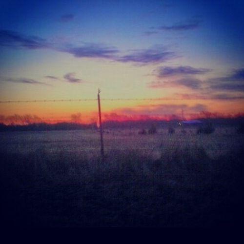 Beautful Scene Sunrise Country Life Countryside