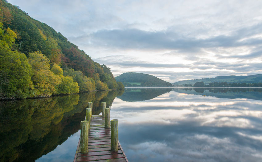 Lake District Ullswater Beauty In Nature Cloud - Sky Day Environment Idyllic Jetty Lake Mountain Mountain Range Nature No People Non-urban Scene Outdoors Reflection Scenics - Nature Sky Tranquil Scene Tranquility Water Waterfront