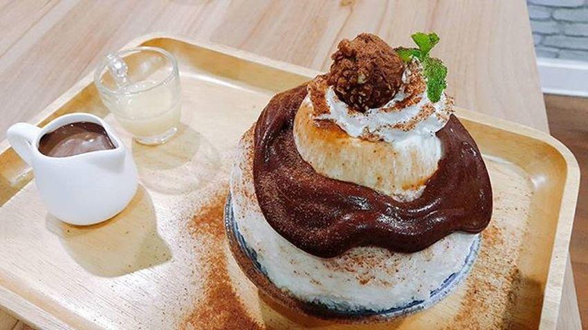 CHOCOLATE PANNA COTTA KAKIGORI 🍧😋 Choccolate Pannacotta