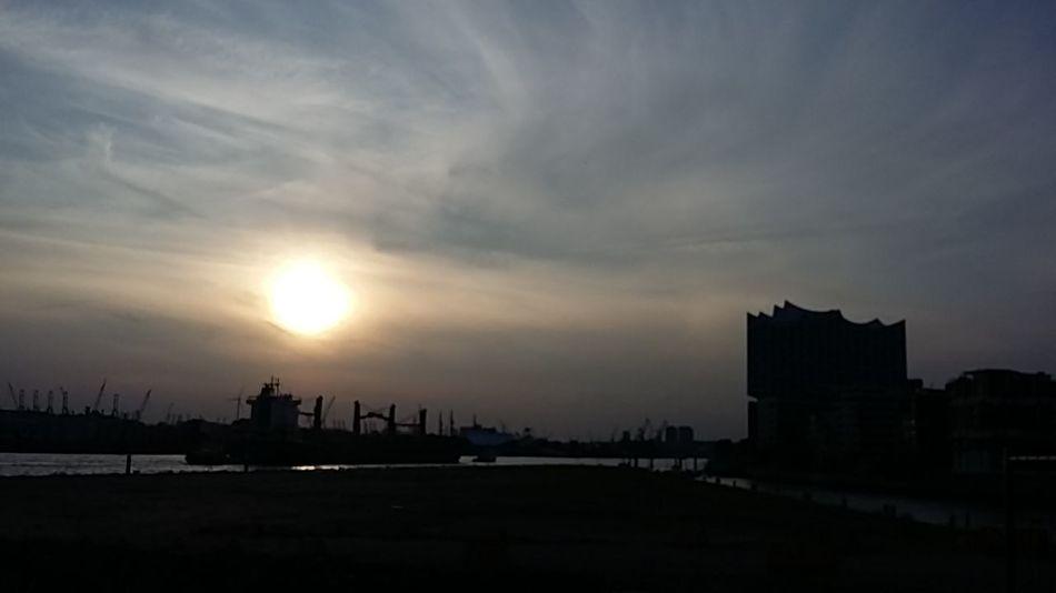 Hafencity Hafen Hamburg Elbphilharmonie Elbe Cityline Sunset Hamburg