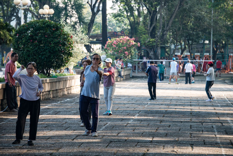 Ho Chi Minh City Morning Park