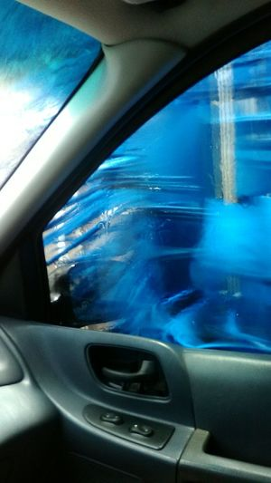 Taking Photos Check This Out Car Washer Being Creative Washing My Car Popular Hi! Have A Nice Day Window View Car Wash, The Modern Way Color Splash Getting Clean Hi! Blue Color Car Wash Day💖