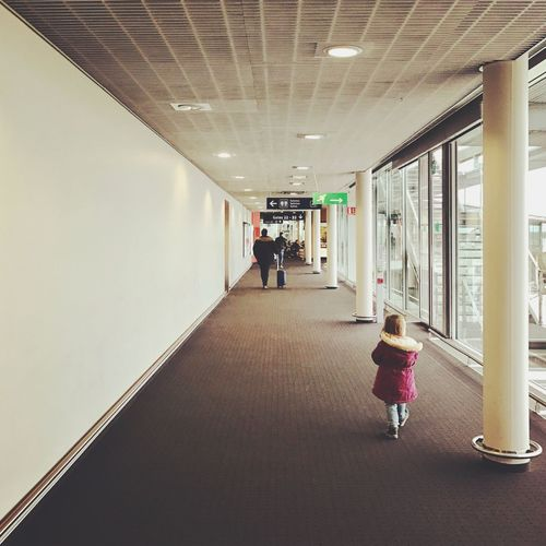 Real People Architecture The Way Forward Little Girl Travelling With Family Airport Airport Runway