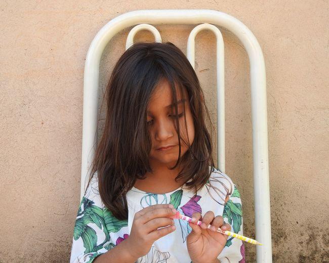 Child Childhood Girls Close-up Drawing - Art Product Pencil Drawing Colored Pencil Pencil Art And Craft Equipment Eraser