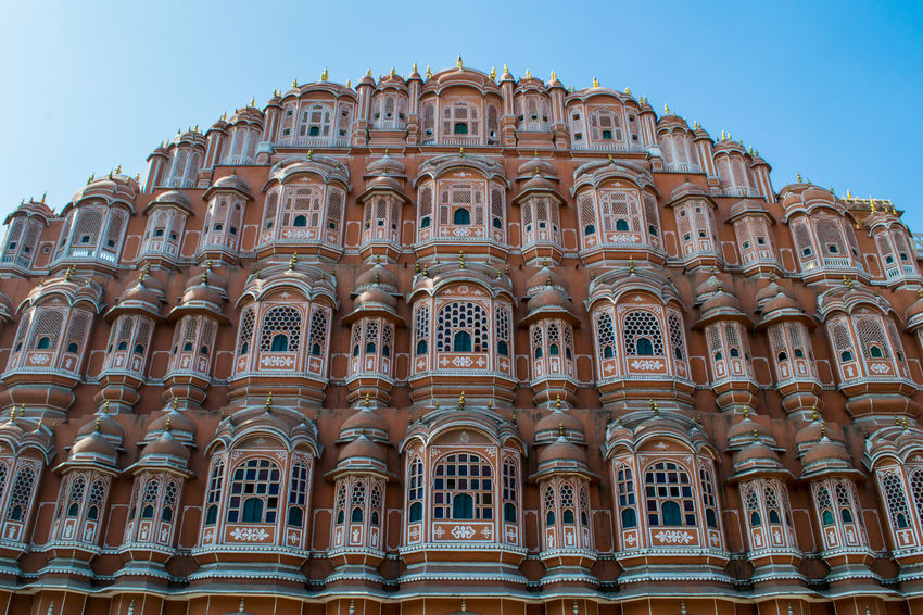 Hawa Mahal - Jaipur, India. Architecture ASIA Beutiful  Building Exterior Built Structure Clear Sky Hawa Mahal India Jaipur Jaipur Rajasthan Low Angle View Mahal No People Outdoors Religion Sky Spirituality Symetric Symetrical Symetry Travel Travel Destinations Travel Photography Traveling