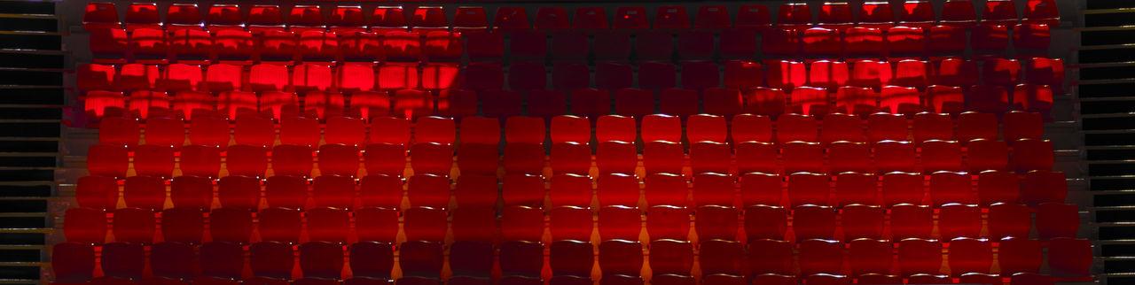 Full frame shot of red blinds