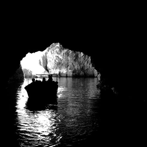 Seaside Sea Cave Cove Boat Silhouette Silhouettes Travel Traveling EyeEm Best Shots EyeEmBestPics EyeEm Gallery EyeEm Best Edits Popular Photos Popular Blue Grotto Malta Holiday Original Experiences Hidden Gems  Monochrome Photography MISSIONS: The Great Outdoors - 2017 EyeEm Awards Perspectives On Nature The Great Outdoors - 2018 EyeEm Awards The Traveler - 2018 EyeEm Awards Capture Tomorrow