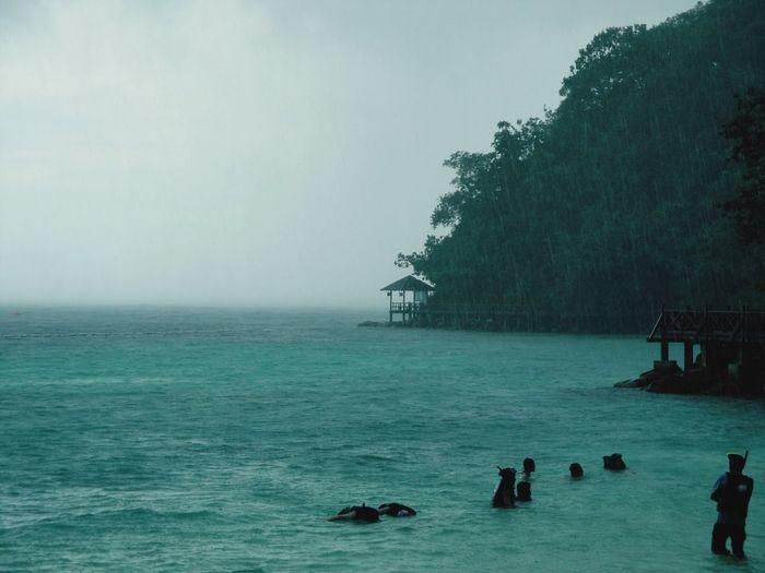Tropical Tropical Paradise Tropical Storm Langkawi Malysia Island Rain Snorkeling Trip Sea Sea And Sky