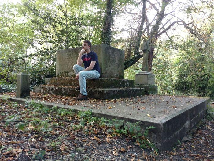 Pensive Nunhead Cemetery Grave Crypt Boy