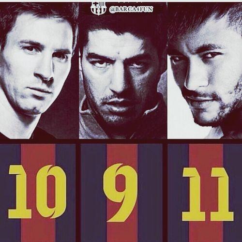 Neymar Jr Messi Suarez ♡♡