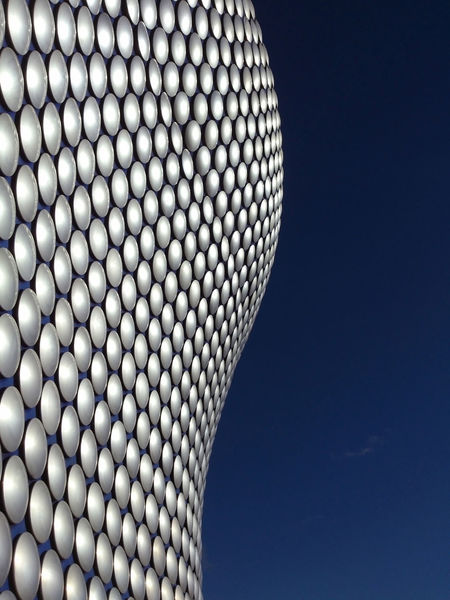 Architecture Birmingham UK Modern Building Design Selfridges Abstract Blue Sky Building Exterior Built Structure Circles Pattern In The City Modern Outdoors The Graphic City