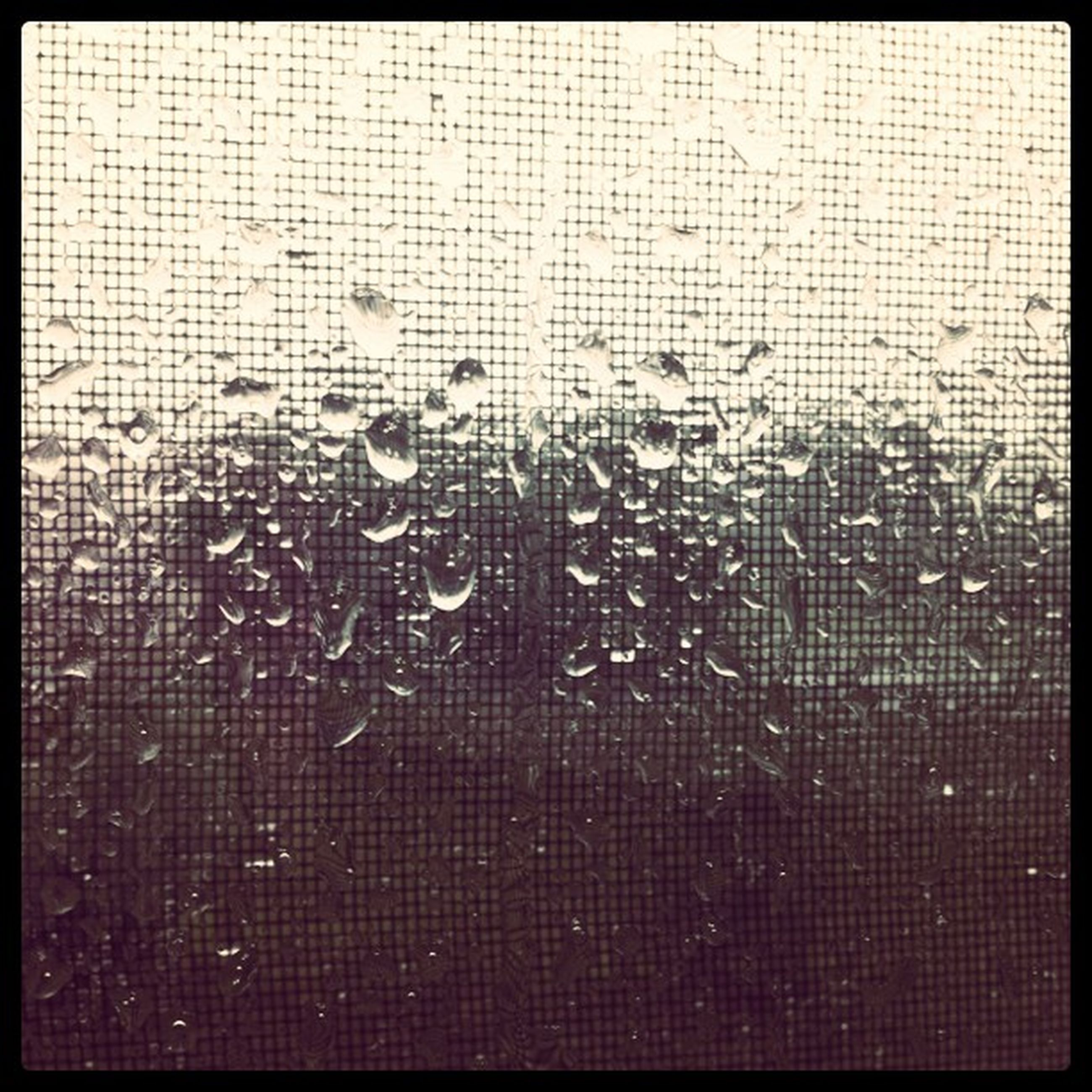 full frame, backgrounds, transfer print, window, wet, drop, indoors, auto post production filter, rain, pattern, close-up, glass - material, transparent, weather, raindrop, textured, no people, water, focus on foreground, season