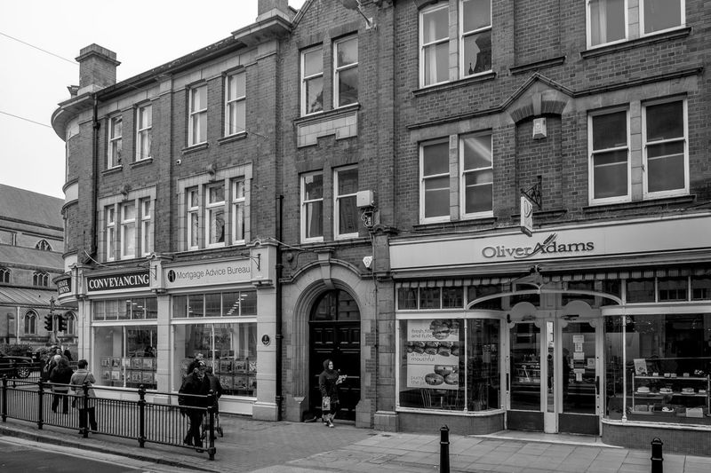 Oliver Adams, Regent Street, Rugby, Warwickshire Architecture Monochrome Black And White Rugbytown Rugby Warwickshire FUJIFILM X-T10 Shops Street