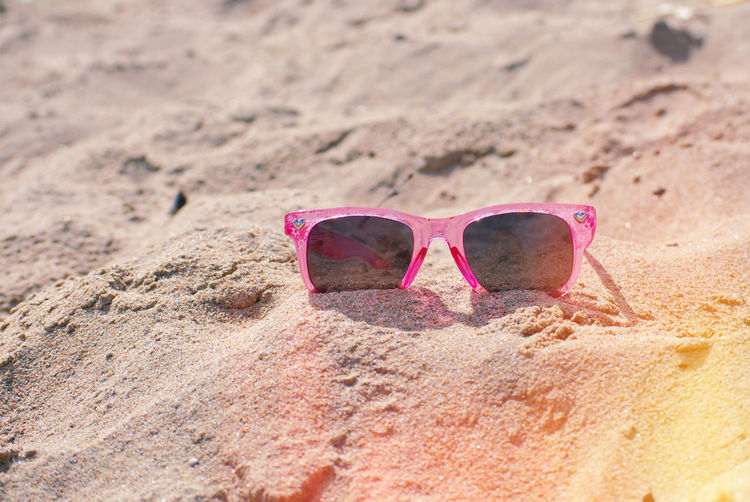 Still Life Outdoors Summer Light And Shadow Light Eyesight Eyeglasses  Sea Beach Sand Summer Pink Color Sunlight Protection Shore Sandy Beach My Best Photo Springtime Decadence