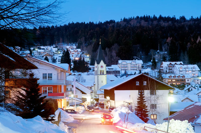 St. Englmar in the evening Bavaria Church City Cityscape Taking Photos Twilight Winter Building Exterior Built Structure Cold Cold Temperature Dusk Evening Germany Nature Night Outdoors Sankt Englmar Ski Resort  Snow St. Englmar Tourism Tourist Resort Town Tree