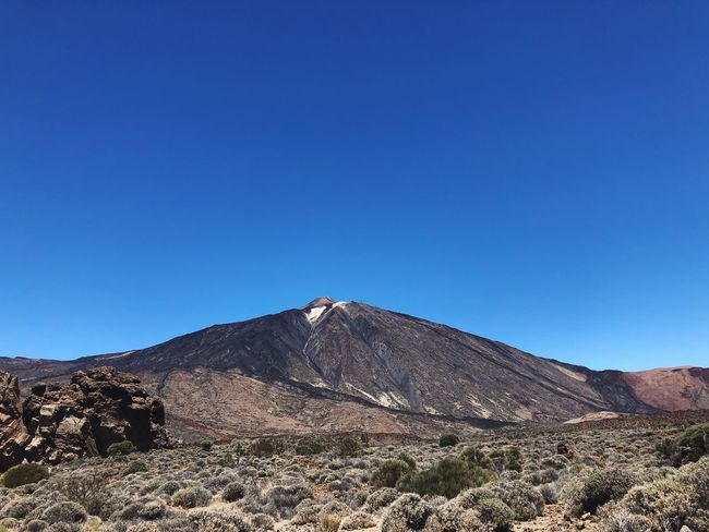 Volcano Teide, Tenerife, Spain 🇪🇸 Teide National Park Volcano Teide Nofilter Tenerife SPAIN Sky Blue Clear Sky Mountain Copy Space Nature Scenics - Nature Beauty In Nature Tranquility Sunlight Tranquil Scene Summer Exploratorium