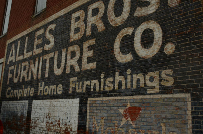 ghost sign painted on vintage brick building Alphabet Architecture Ghost Sign Ghost Signs  Old Fashioned Painted Signs Text Victorian Vintage Style Brick Brick Building Lettering Retro Design Vintage Advertising