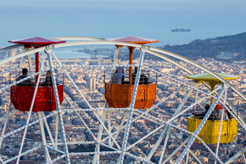 Barcelona Barcelona From Above Barcelona, Spain Cityscape City From Above City View  Tibidabo View From Above