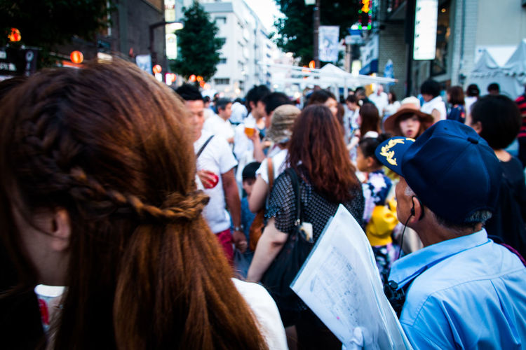 Everybodystreet Urban Lifestyle Tokyo Collected Community Learn & Shoot: Layering Street Summer Views Sound Of Life Depth Of Field Up Close Street Photography Showing Imperfection People Feel The Journey The Following Crowd Festival Summer Summertime Enjoy Happy People Urbanity City Life Walking Around Urban Exploration Japan Lovers