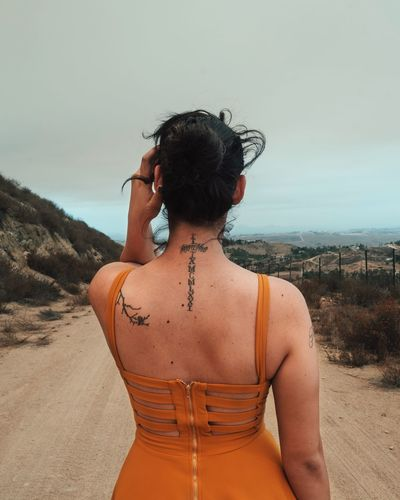 Looking forward. VSCO Fashion Beautiful Land Real People Lifestyles Leisure Activity Sky Rear View Nature One Person Adult Hair Day Waist Up Women Standing Water Outdoors Hairstyle