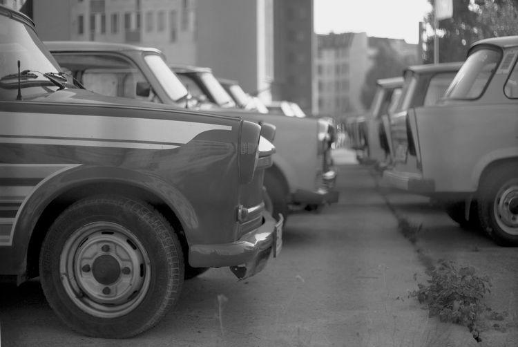 Cars on street