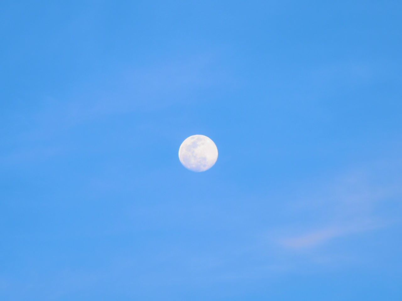sky, beauty in nature, space, astronomy, moon, blue, low angle view, tranquility, scenics - nature, tranquil scene, no people, planetary moon, nature, idyllic, night, clear sky, copy space, outdoors, space exploration, astrology, space and astronomy