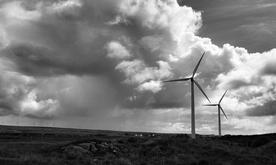 Wind Galway Ireland Connemara Weather Blackandwhite Blackandwhite Photography Black&white Wind Turbine Life In Motion
