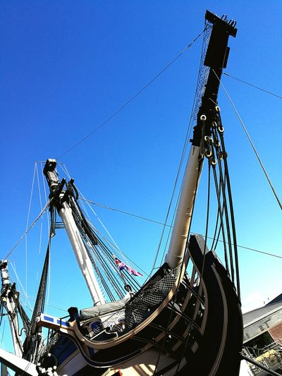 Low Angle View Monument Sky Day Outdoors Clear Sky Tall HMSVictory Ship