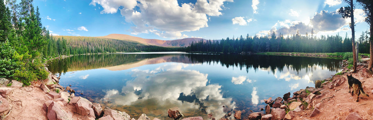 Reflected like as if time stood still, spirit lake in the high uintas 10,000 ft