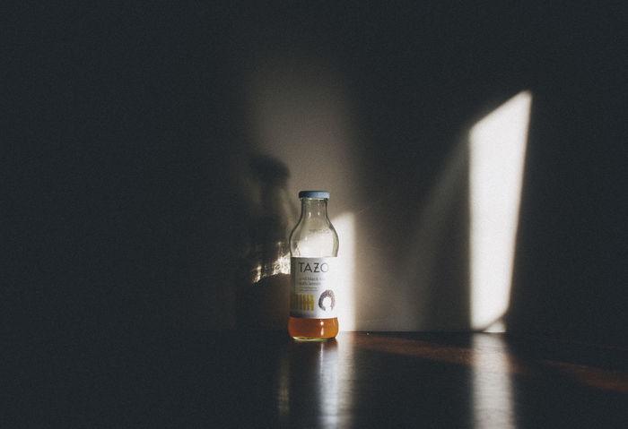 Drink tea. Light Tea Bottle Day Drink Indoors  Light And Shadow No People Sun Table Tazo