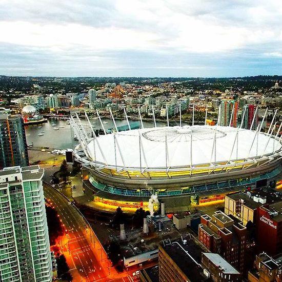 BC Place Stadium aerial view Vancouverisawesome , Vancouverbc , RandomShots , Quadcopter , Djiphantom3