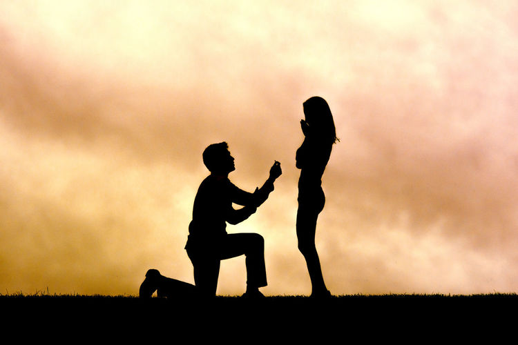 Engagement Engagement Photography Engagement Ring Love Shesaidyes Silhouette Sky Sunset Two People