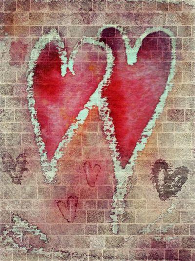 Herzen Hearts Watercolor Digital Art Love Love♥ Liebe Send Love Into The World