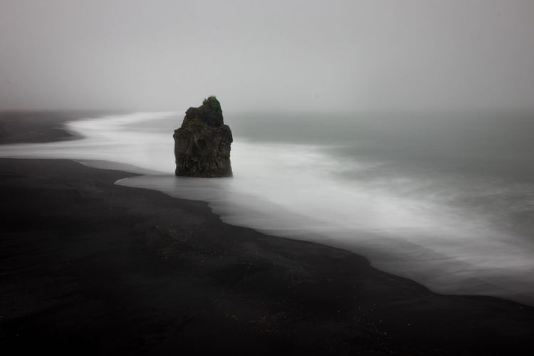 Dyrhólaey Iceland Iceland Memories Long Exposure Shot Vík í Mýrdal Beach Beauty In Nature Day Fog Foggy Foggy Morning Horizon Over Water Iceland_collection Long Exposure Nature No People Outdoors Rock - Object Scenics Sea Sky Tranquil Scene Tranquility Vik Water Shades Of Winter Go Higher