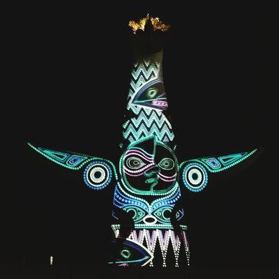 太陽の塔 Japan OSAKA Projection Mapping TAROOKAMOTO Nightphotography