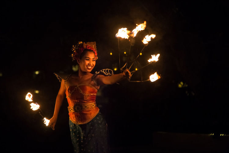 Traditional Fire Dance - Bali Bali Bali, Indonesia Black Background Dance Fire Fire Performance Flame Illuminated Lifestyles Night Traditional Culture Tradtional Balin