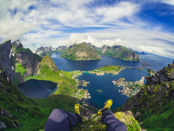 Low Section Of Person On Lofoten Archipelago