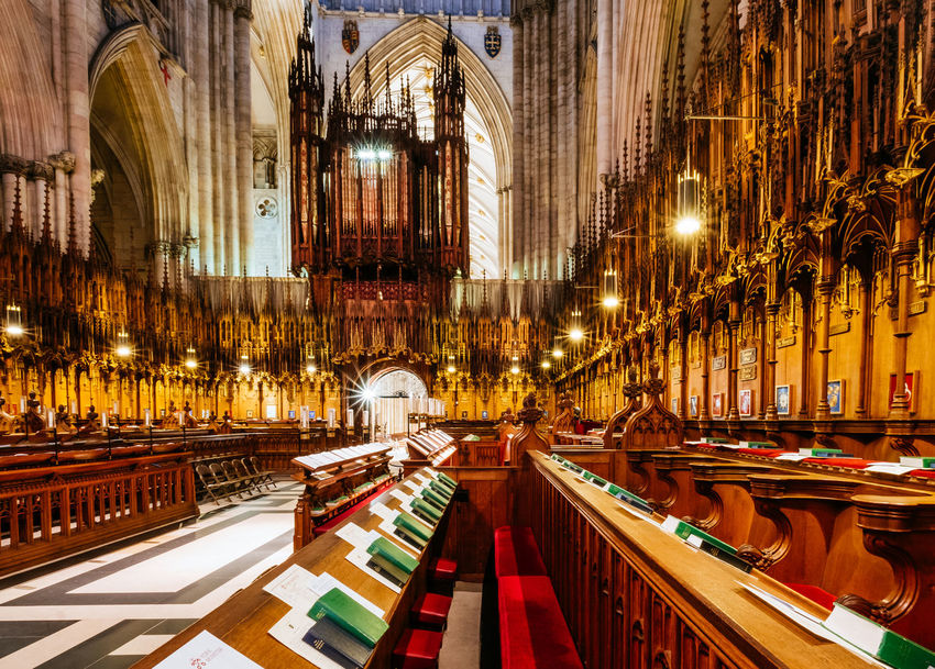 The Choir at York Minster Cathedral, York Christian Church Singing Worship Worshiping God York York Cathedral York Minister York Minster  Architecture Built Structure Choir  Christian Church Church Architecture Illuminated Indoors  Naive No People Place Of Worship Religion Spirituality