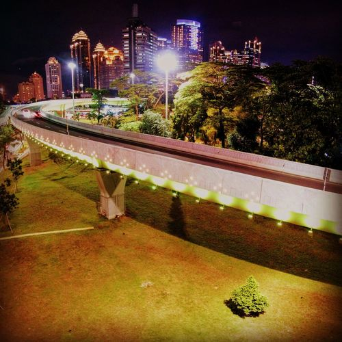 other view of semanggi interchange DJI X Eyeem Aerial Photography EyEmNewHere EyeEm Best Shots Skyphotography Skygrapher Midrone Indonesiatravel Night Illuminated Outdoors No People Building Exterior Tree City Architecture HUAWEI Photo Award: After Dark